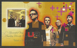 IRELAND 2002 POP ROCK LEGENDS MUSIC U2 BONO M/SHEET MNH - Nuovi