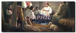 CPA Fantaisie Christ Dans La Bergerie Noel Christmas - Zonder Classificatie