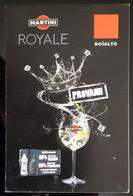 MARTINI Royale Carte Size Carte Postale - Publicité