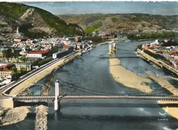 Tournon (07 Ardèche) En Avion Au Dessus De ... Vue Générale Les Trois Ponts Sur Le Rhône - édit Lapie N° 29 Colorisée - Tournon