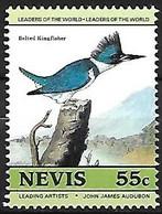 Nevis - MNH ** 1985 Audubon :  Belted Kingfisher -   Megaceryle Alcyon - Andere