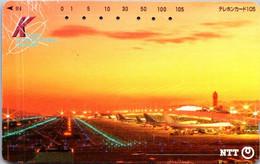 (3-10-2021 E) Phonecard -  Japan - (1 Phonecard)  Airport - Aerei