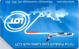 (3-10-2021 E) Phonecard -  Poland - (1 Phonecard)  Aircraft LOT - Aerei