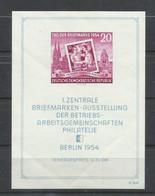 ALEMANIA  ORIENTAL   YVERT   H/B 4   MNH  **   (PLIEGUES LONGITUDINALES) - FDC: Ersttagsblätter