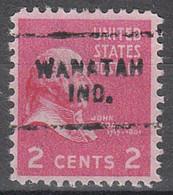 USA Precancel Vorausentwertungen Preos, Locals Indiana, Wanatah 703 - Vorausentwertungen
