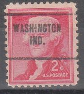 USA Precancel Vorausentwertungen Preos, Locals Indiana, Washington 704 - Vorausentwertungen