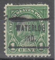 USA Precancel Vorausentwertungen Preos, Locals Indiana, Waterloo 632-721 - Vorausentwertungen
