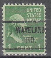 USA Precancel Vorausentwertungen Preos, Locals Indiana, Waveland 721 - Vorausentwertungen