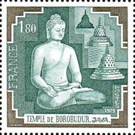 France Poste N** Yv:2036 Mi:2142 Temple De Borobudur Java (Thème) - Buddhismus