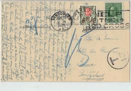 Kanada Postkarte Ansichtskarte Foto - Ben My Chree , Head Of West Taku Arm - O 1927 Vancouver Nach Genf CH - Taxe Porto - Yukon