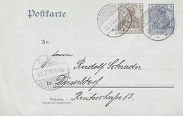 Duitsland Rijkspost Briefkaart Afgestempeld Burgbrohl 25-09-1903 (3377) - Stamped Stationery