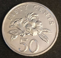 SINGAPOUR - SINGAPORE - 50 CENTS 2007 - KM 102 - ( Blason Bas ) - Singapore