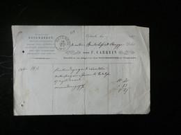 A13/906 DOC.  OBL. OOSTENDE 1877 VESO OBL. BRUGES - Autres