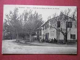 BERRE - GARE  ( 13 ) Café De La Gare Et Route De BERRE - L'ETANG - Otros Municipios