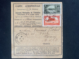 Carte Aeropostale Journées De L'aviation Vincennes Numérotée  Vers Casablanca Maroc Pour Retour à Nancy 13/06/1930 - 1927-1959 Brieven & Documenten
