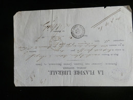 A13/909  DOC.  OBL. GAND AUB. DE BRUGES VERSO OBL. BRUGES 1877 - Autres