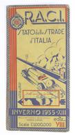 R.A.C.I. - Carta Dello Stato Delle Strade D'italia - Inverno 1935 - Altri