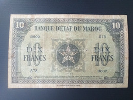 MAROC 10 FRANCS 1944 - Morocco