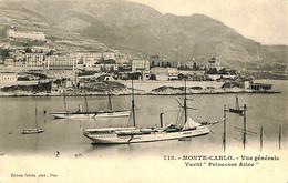 035 217 - CPA-  Monaco - Monte-Carlo - Vue Générale - Yacht Princesse Alice - Harbor