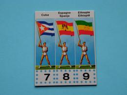JOUE - SPEEL > MEXICORAMA Avec/met  LA VACHE QUI RIT ( Drapeaux / Vlaggen Nrs. 7 - 8 - 9 ) 1968 ! - Trading Cards