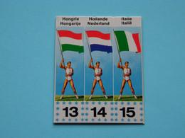 JOUE - SPEEL > MEXICORAMA Avec/met  LA VACHE QUI RIT ( Drapeaux / Vlaggen Nrs. 13 - 14 - 15 ) 1968 ! - Trading Cards