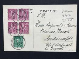 GERMANY 1923 Postcard Wunsiedel To Neudrassenfeld - Covers & Documents