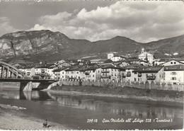 ZONA TRENTO SAN MICHELE ALL'ADIGE VEDUTA DEL CENTRO ANNO 1960 VIAGGIATA - Trento