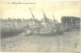 Cpa PORT LOUIS 56 - 1906 - Le Quai à Basse Mer (rare) N° 1623 - Port Louis