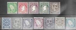 Ireland  1940-2   Sc#106-17  Set Of 12   MLH   2016 Scott Value $232.75 - Unused Stamps