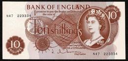 * Bank Of England * 10/- * Hollom * P373b / B294 * Prefix N47 * UNC - 10 Schillings