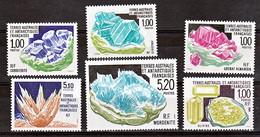 TAAF 153 160 173 185 195 203 Minéraux Neuf ** TB MNH Sin Charnela Prix De La Poste 2.3 - Mineralen