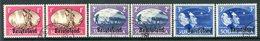 Basutoland 1945 KGVI Victory - Singles - Set Used (SG 29-31) - 1933-1964 Crown Colony