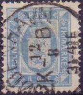 DENEMARKEN Dienstzegel 1875-23 4öre Perf 12½ GB-USED - Dienstpost