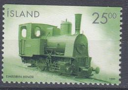 ++Iceland 1999. Train. Locomotive. Michel 909. MNH(**) - Unused Stamps