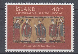 ++Iceland 2000. Christianity In Iceland. Michel 941. MNH(**) - Nuovi