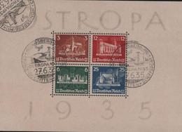 1935 OSTROPA BLOCKAUSGABE USED POSTMARK KÖNIGSBERG - Neufs