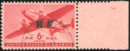 O - Poste Navale. 6c. Aériens Des Etats-Unis Avec Griffe ''RF''. 5 Pièces. Surcharge Diverses. Catalogue Mayer. TB. - Militaria