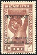 ** N°6 - Timbres Du Sénégal. 1F. Surch. Richelieu. SUP. - Militaria