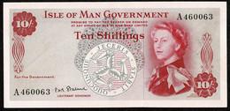 Isle Of Man Government * 10/- * Stallard * Prefix A * P24b / IM21b * 1966 * GEF - 10 Schillings