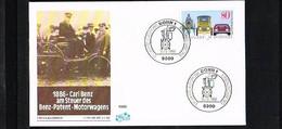 1986 - Deutschland FDC Mi. 1268 - Transport - Cars - 100 Jahre Automobil [KQ074] - FDC: Brieven