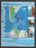 2018 Argentina Continental Shelf Geology Maps Petroleum Souvenir Sheet MNH - Unused Stamps