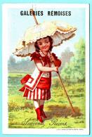 Jolie Chromo Galéries Rémoises. Petite Fille Sous Un Parasol. APPEL 1-1-22/6 - Other