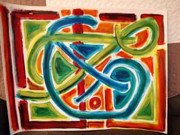 Lumineuse Peinture à L'huile Sur Papier - Olii