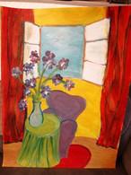 Peinture à L'huile Sur Papier 50 X 65 - Olii