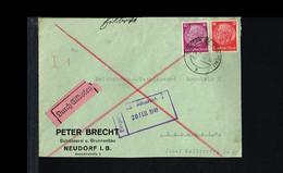 1940 - German Reich Cover - From Neudorf To Manheim [B03_096] - Brieven
