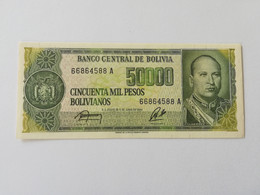 BOLIVIA 50000 PESOS BOLIVIANO 1984 - Bolivia