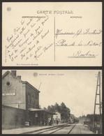 Carte Postale - Melden : De Statie, La Gare / Animée (Albert) - Oudenaarde