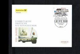 Transport - Cars - 100 Jahre KFZ Kennzeichen - FDC Mi. 2551 Germany 2006 [KG090] - Auto's