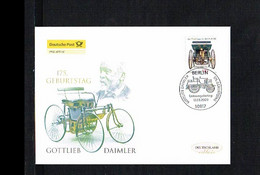 Transport - Cars - Stahlradwagen - Gottlieb Daimler - FDC Mi. 2725 Germany 2009 [KJ014] - Auto's
