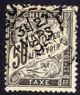 Tt024 Taxe YT 20 Duval 50c Noir (O) - 1859-1955 Used